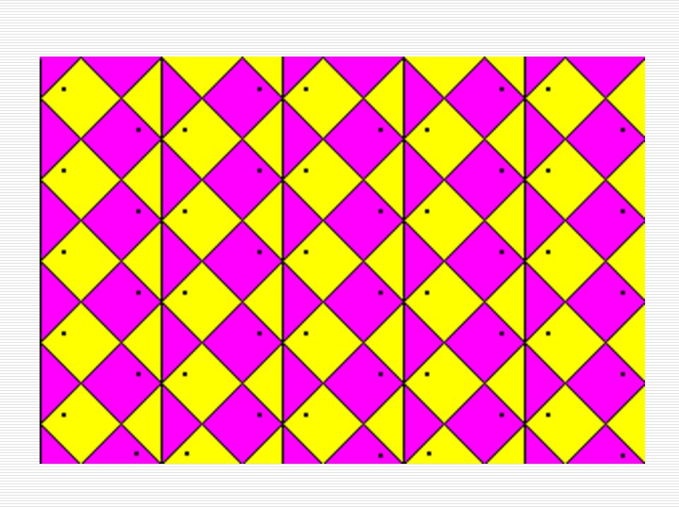 Tessellation A pattern of shapes that fit perfectly together.