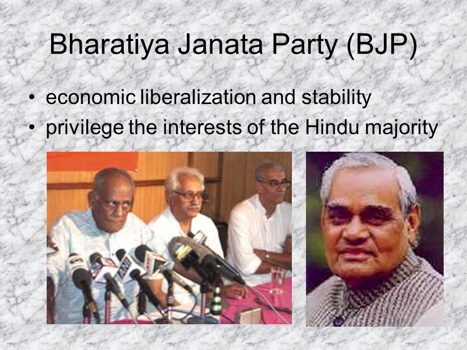 Bharatiya Janata Party (BJP) economic liberalization and stability privilege the interests of the Hindu majority