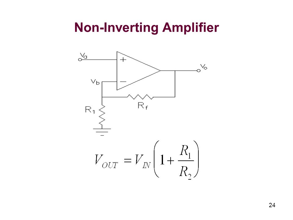 24 Non-Inverting Amplifier
