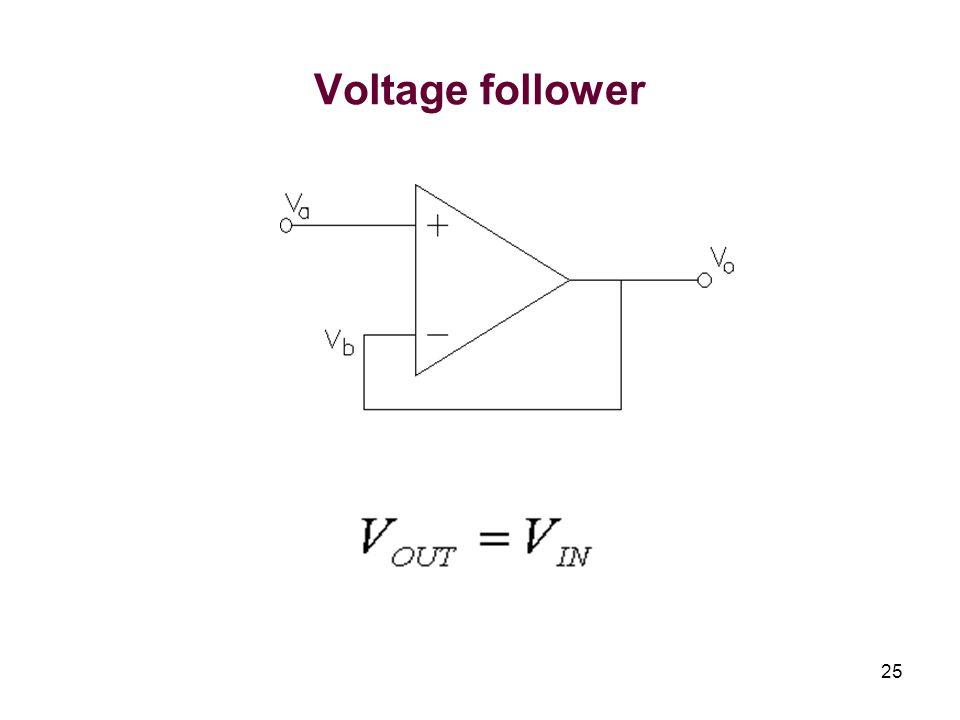 25 Voltage follower