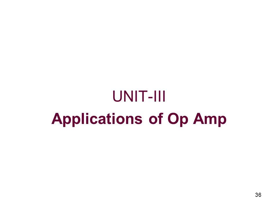 36 UNIT-III Applications of Op Amp