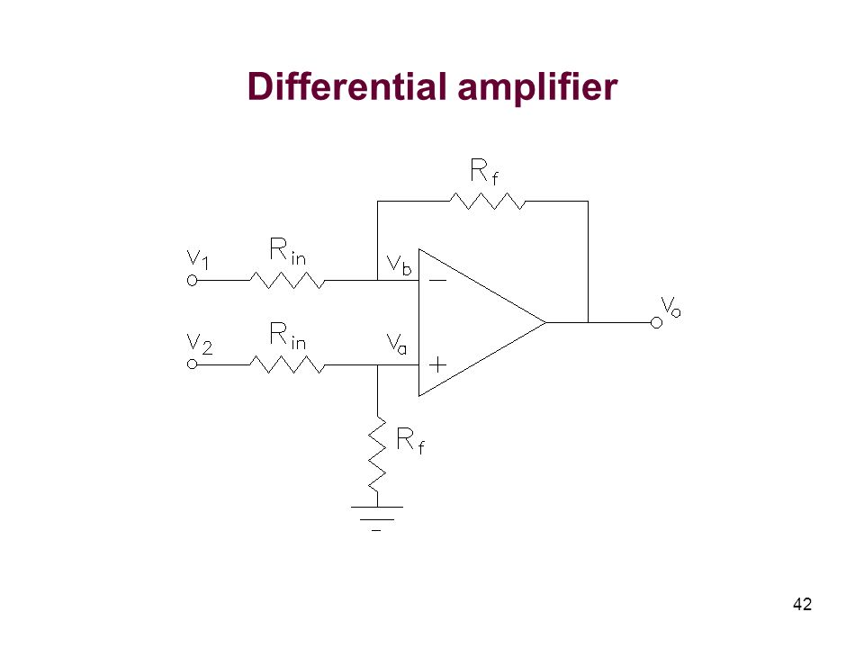 42 Differential amplifier