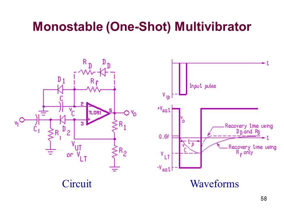 58 Monostable (One-Shot) Multivibrator CircuitWaveforms