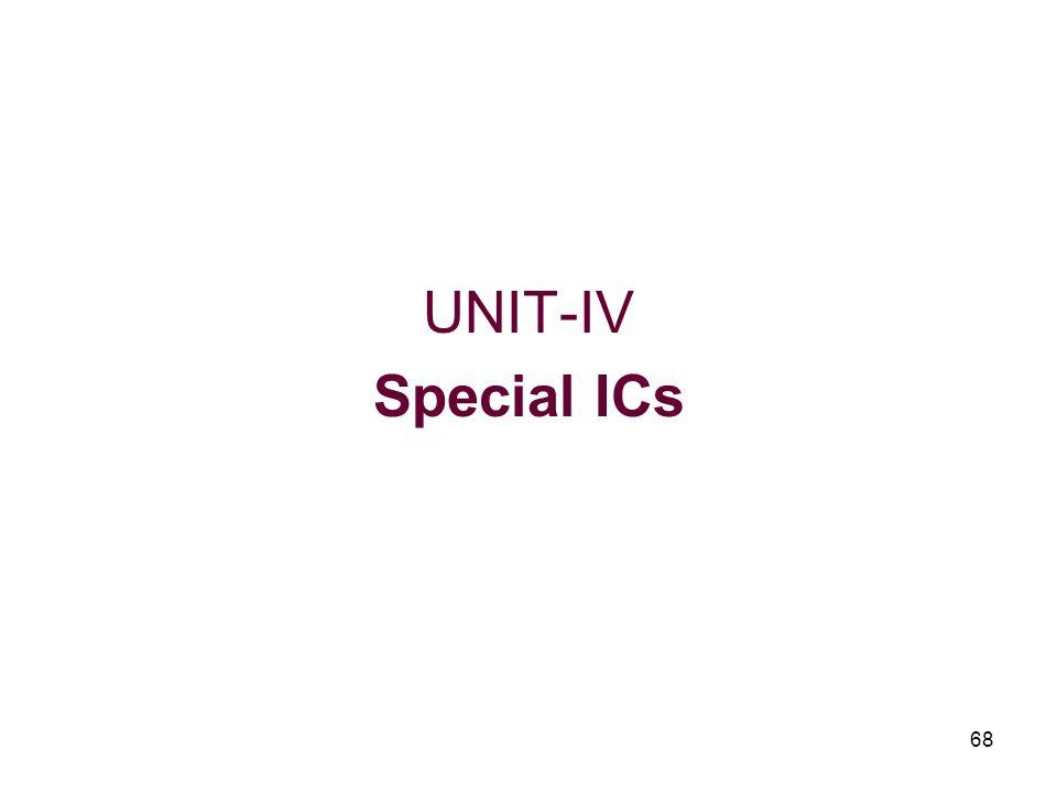 68 UNIT-IV Special ICs