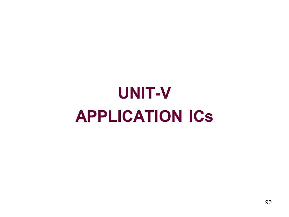 93 UNIT-V APPLICATION ICs