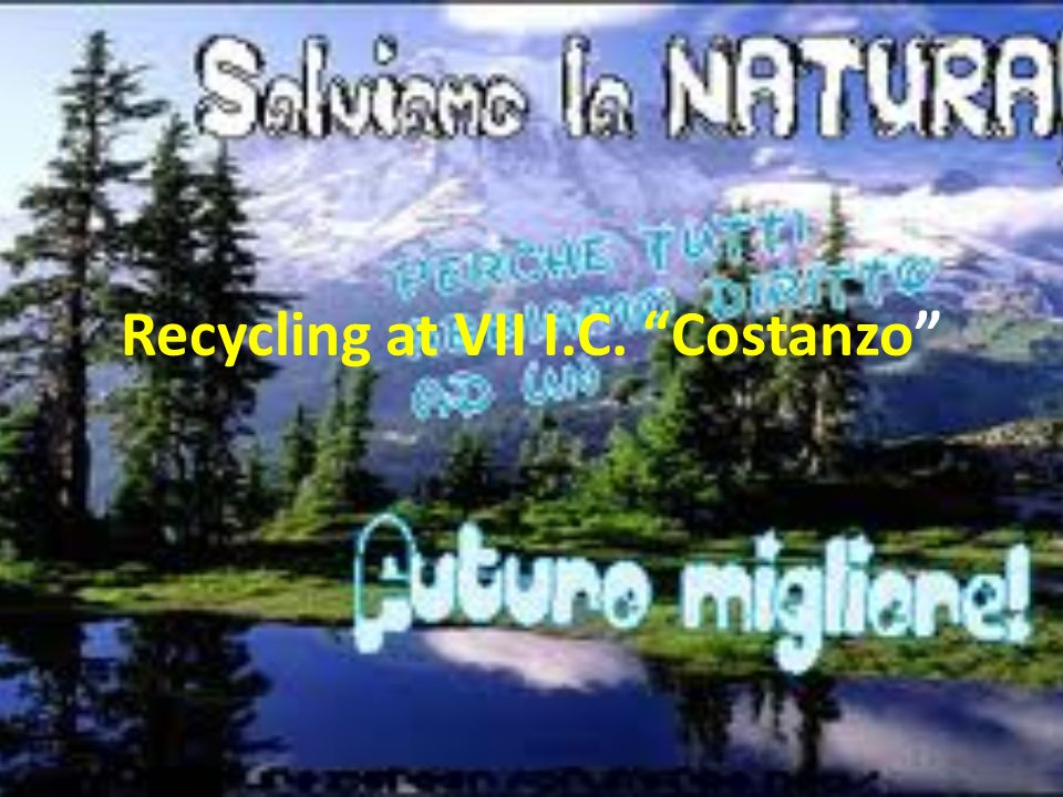 Recycling at VII I.C. Costanzo