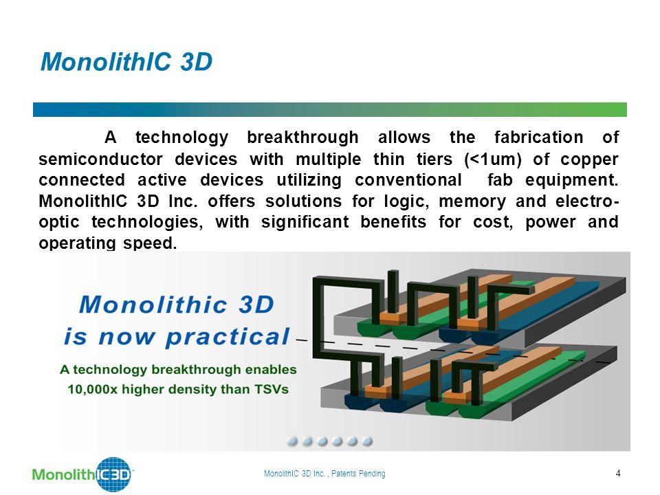 MonolithIC 3D Inc. Patents Pending 15 Chapter 2 Monolithic 3D RCAT