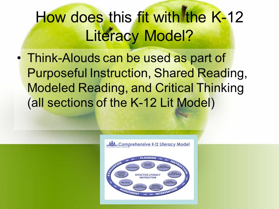How does this fit with the K-12 Literacy Model.