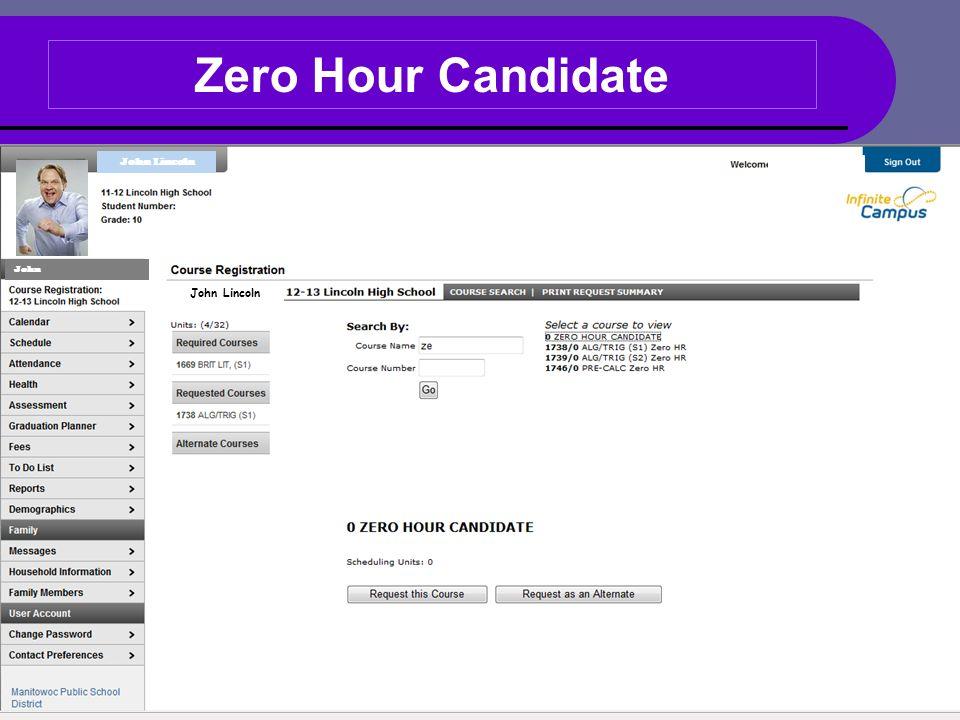 Zero Hour Candidate John Lincoln John John Lincoln