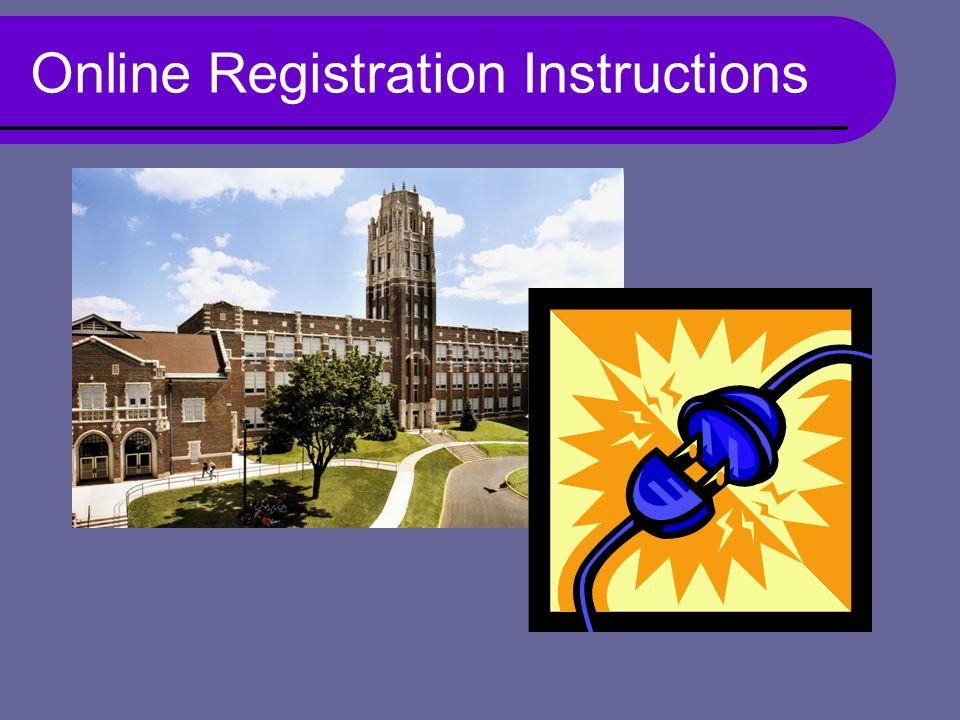 Online Registration Instructions