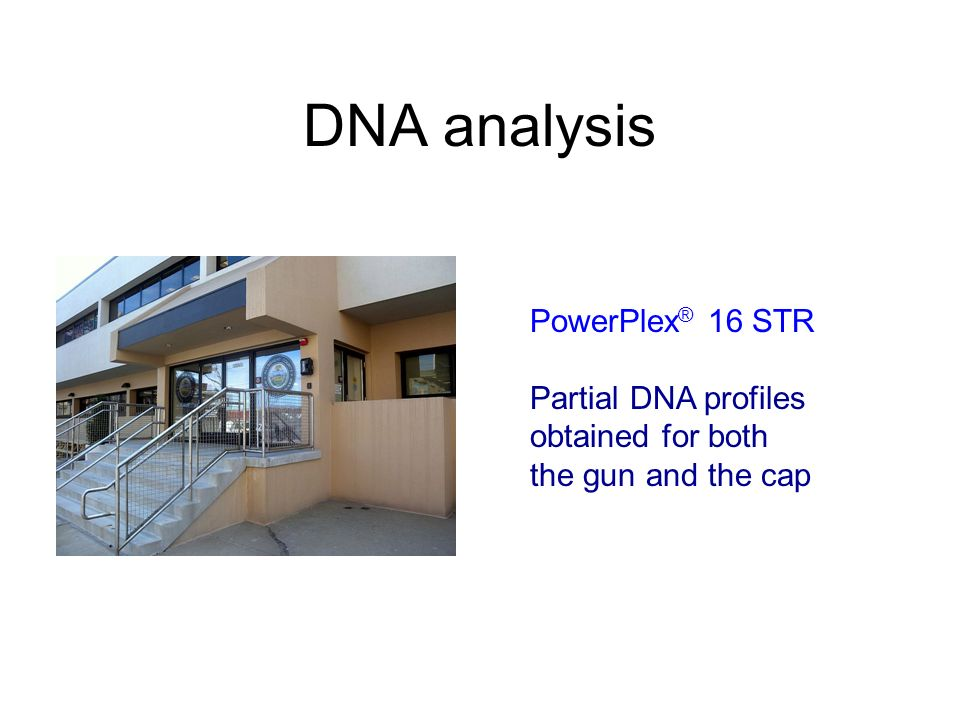 DNA analysis PowerPlex ® 16 STR Partial DNA profiles obtained for both the gun and the cap