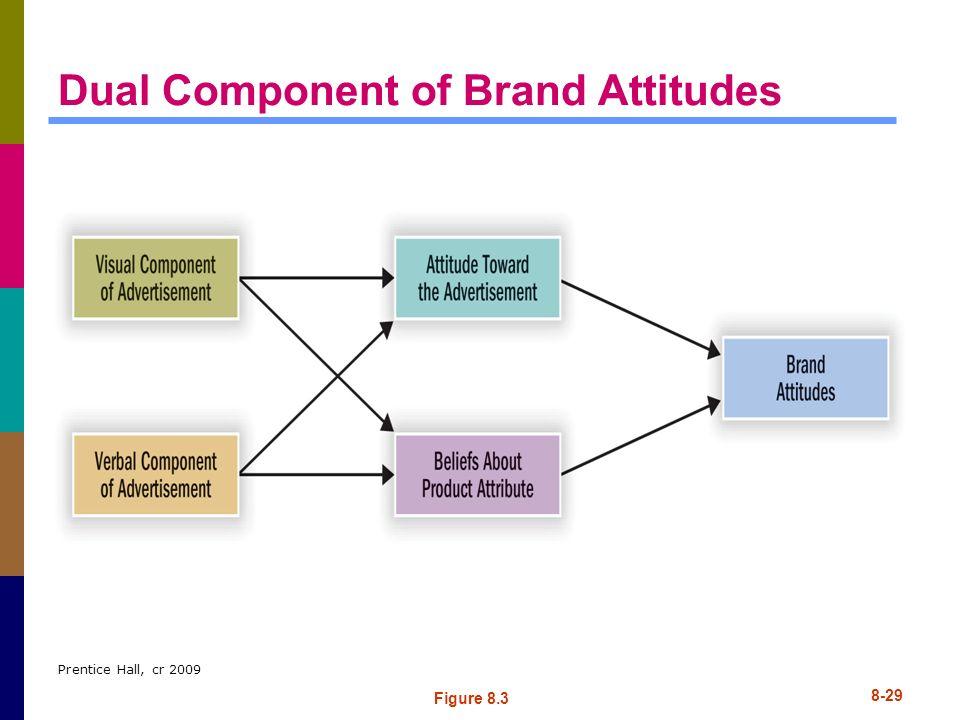 Prentice Hall, cr 2009 8-29 Dual Component of Brand Attitudes Figure 8.3