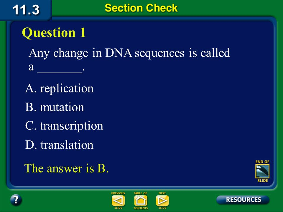 11.3 Section Summary 6.3 – pages 296 - 301 Repairing DNA Repair mechanisms that fix mutations in cells have evolved.