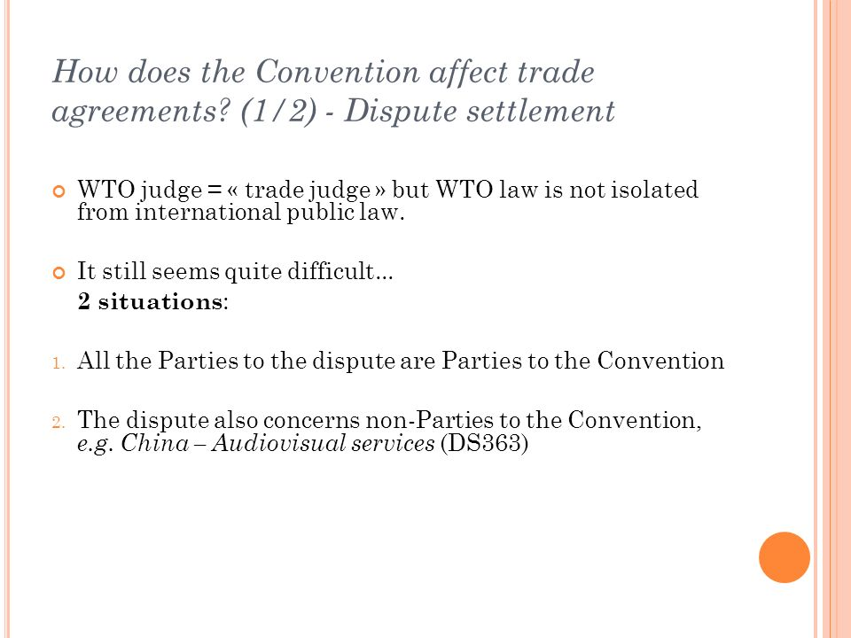 How does the Convention affect trade agreements.
