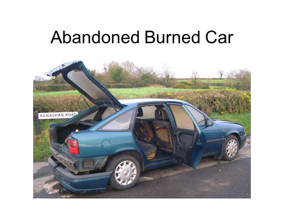 Abandoned Burned Car