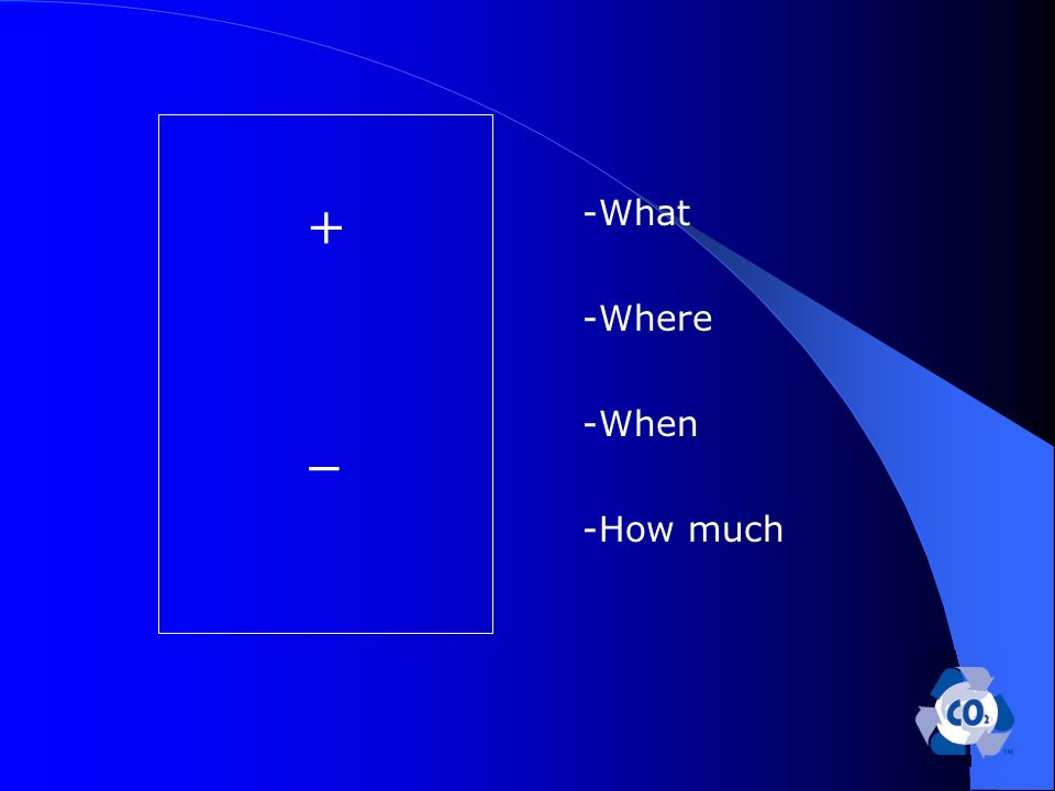 + _ -What -Where -When -How much