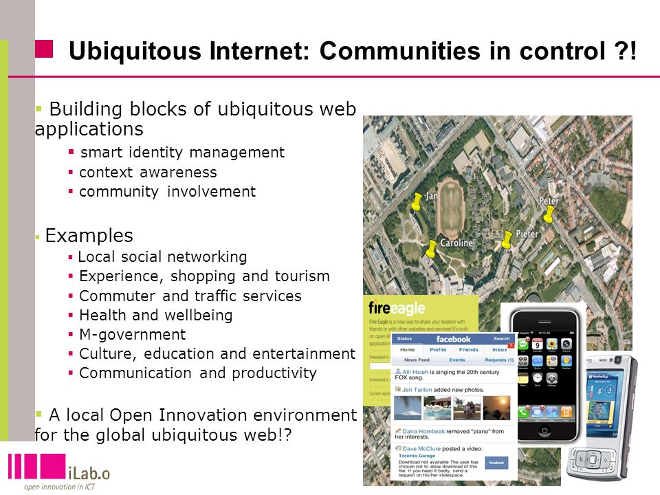8 Ubiquitous Internet: Communities in control ?.