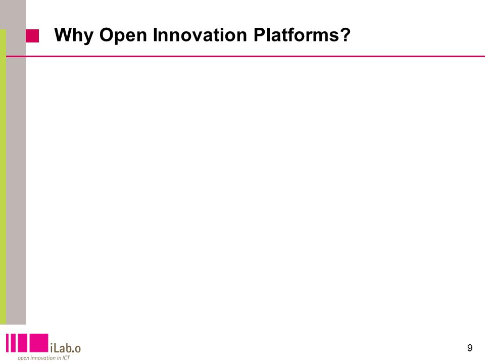 9 Why Open Innovation Platforms?
