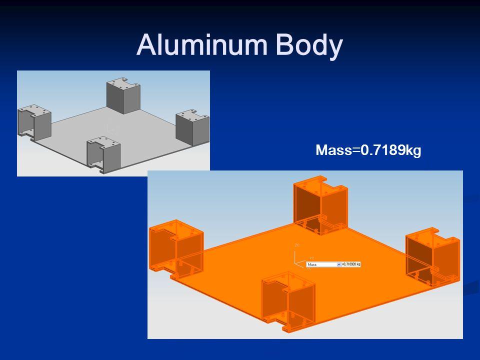Aluminum Body Mass=0.7189kg