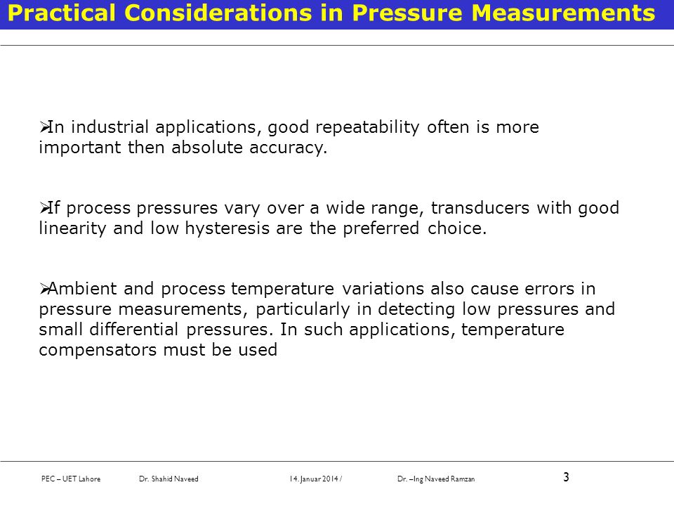 Practical Considerations when using head type instruments The reference point of the tank vs instrument input must be considered.