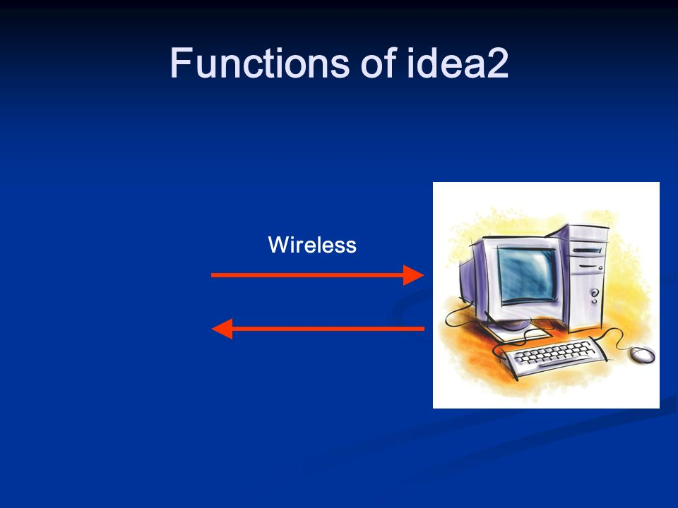Functions of idea2 Wireless