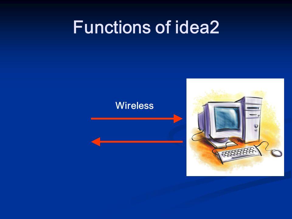 Functions of idea2 Wireless