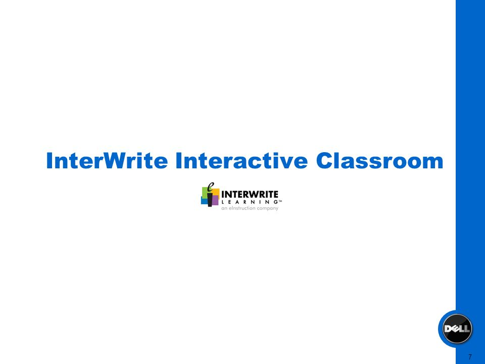 7 InterWrite Interactive Classroom