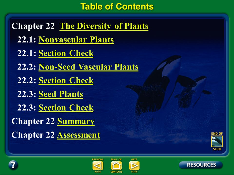 Section 22.1 Summary – pages 577 - 580 There are several divisions of nonvascular plants.