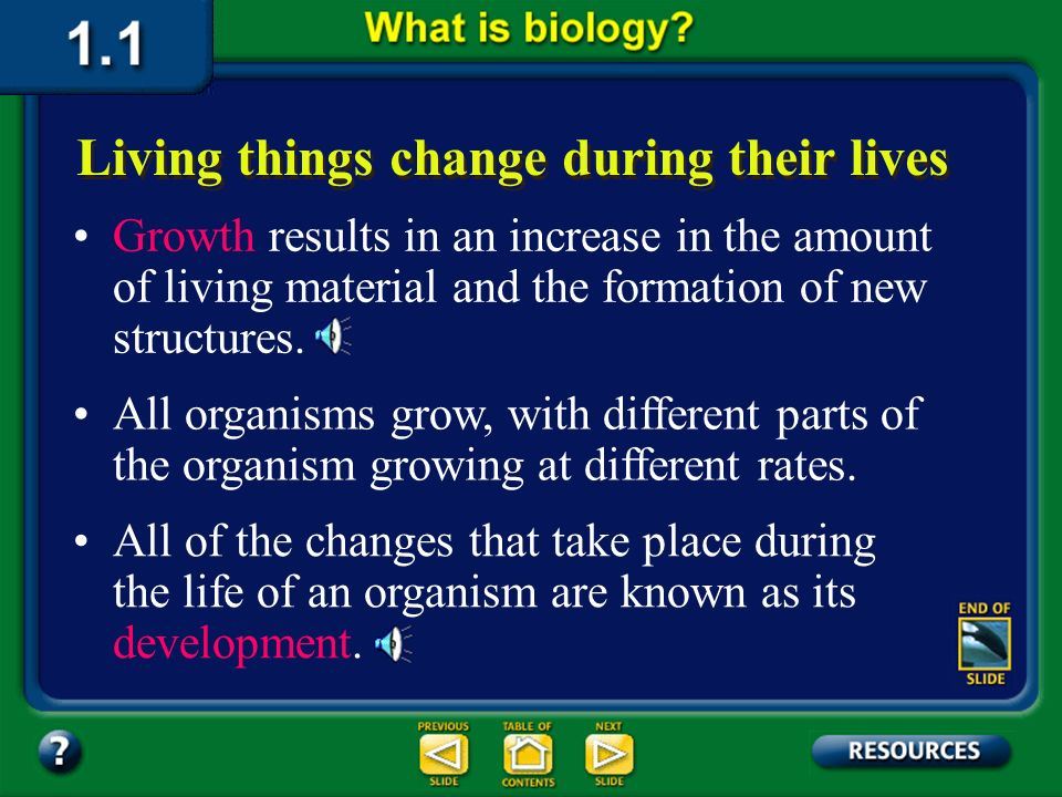 Section 1.1 Summary – pages 3-10 Reproduction is not essential for the survival of an individual organism, but it is essential for the continuation of