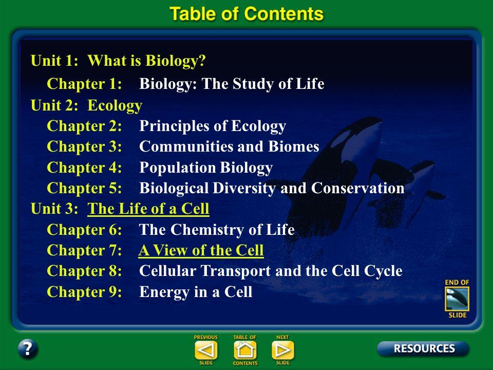 Unit 1: What is Biology? Unit 2: Ecology Unit 3: The Life of a CellThe Life of a Cell Unit 4: Genetics Unit 5: Change Through Time Unit 6: Viruses, Ba