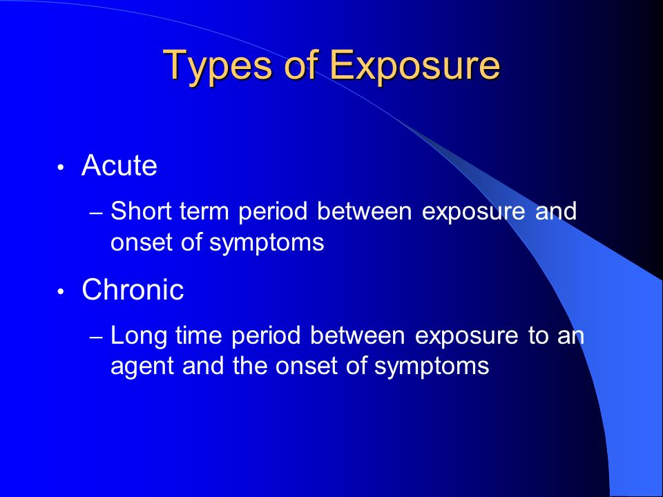 Exposure Limits Air Contaminants OSHA – Occupational Safety and Health Administration NIOSH – National Institute of Occupational Safety and Health ACGIH – American Conference of Governmental Industrial Hygienists