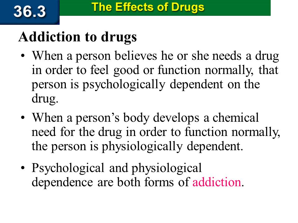 Section 36.3 Summary – pages 956 - 963 The Misuse and Abuse of Drugs Drug abuse is the inappropriate self- administration of a drug for non medical pu
