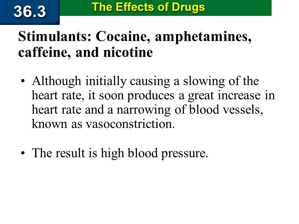 Section 36.3 Summary – pages 956 - 963 Cocaine also disrupts the bodys circulatory system by interfering with the sympathetic nervous system. Physical