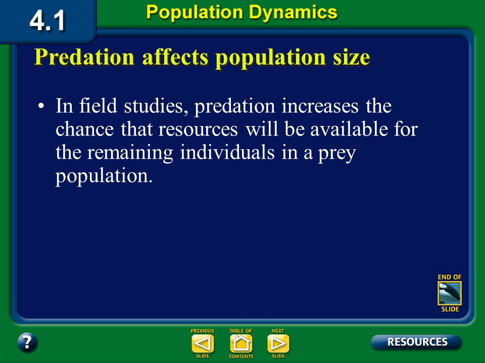 Section 4.1 Summary – pages 91-99 Predation affects population size The data in this graph reflect the number of hare and lynx pelts sold to the Hudso