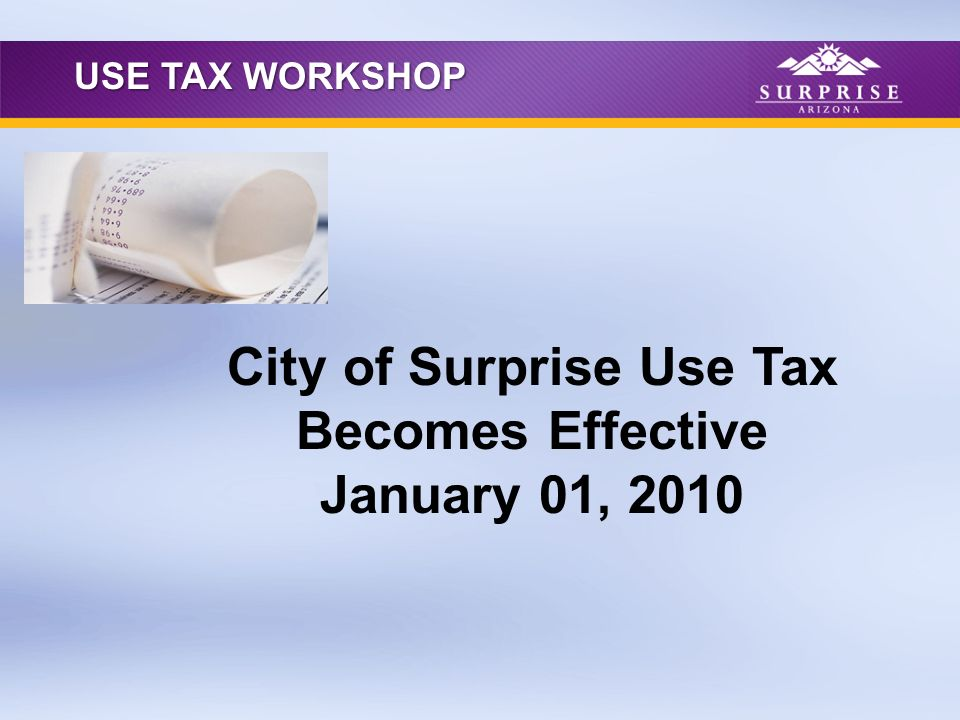 Use tax is a tax on Tangible Personal Property (TPP) purchased or leased for storage or use in the city, on which tax was not paid at the time of purchase or rental.