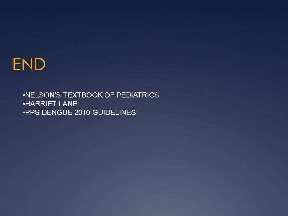 END NELSONS TEXTBOOK OF PEDIATRICS HARRIET LANE PPS DENGUE 2010 GUIDELINES