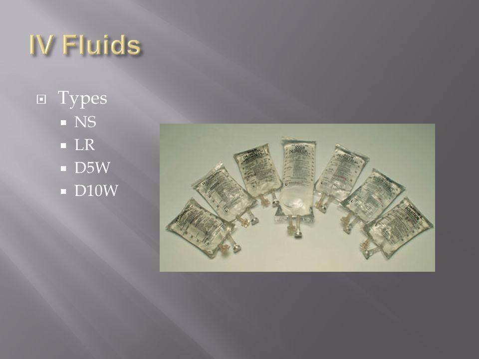 Types NS LR D5W D10W