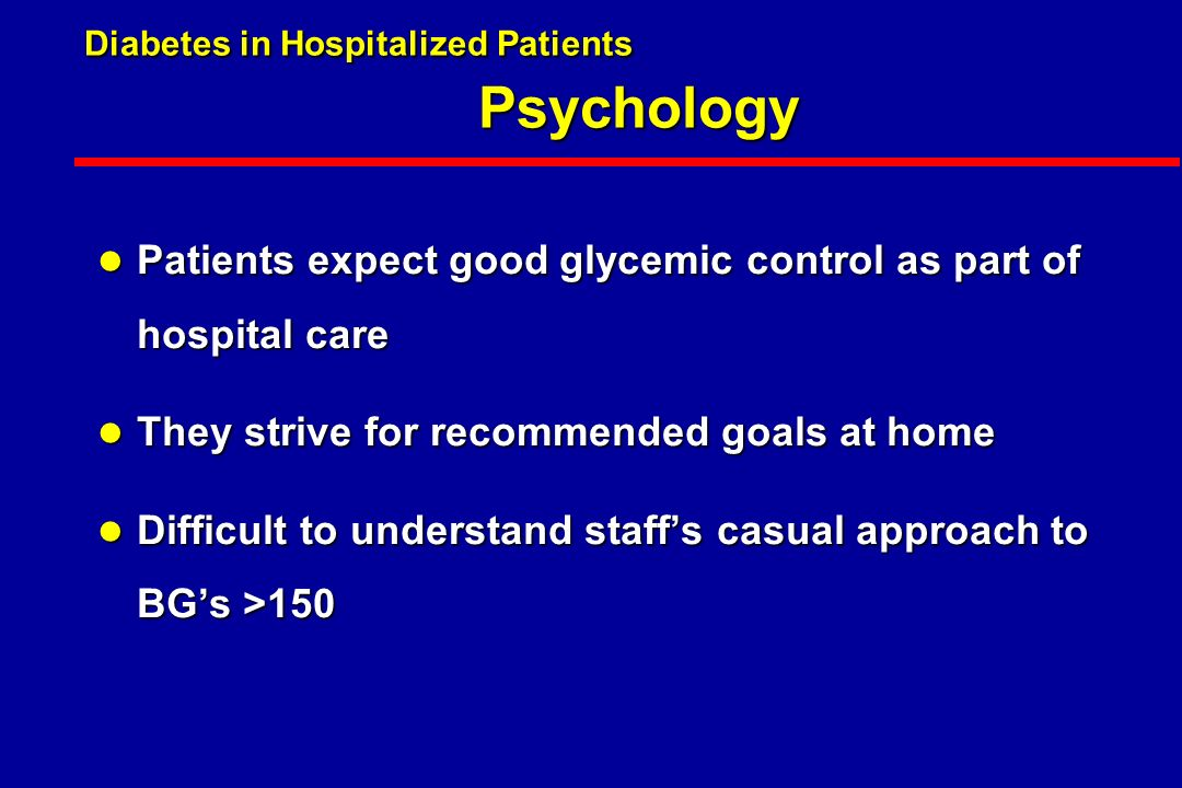 Diabetes in Hospitalized Patients.
