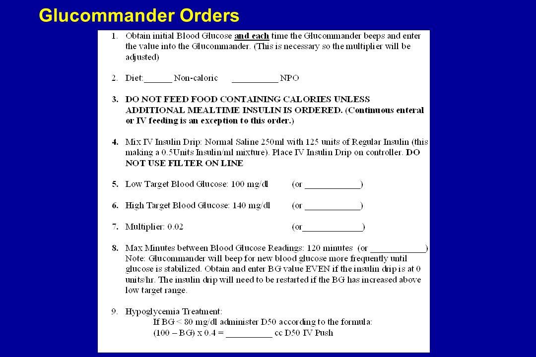 Glucommander Orders