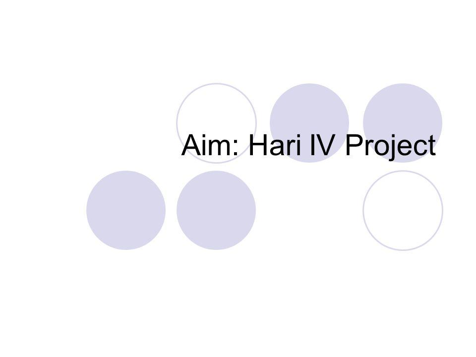 Aim: Hari IV Project