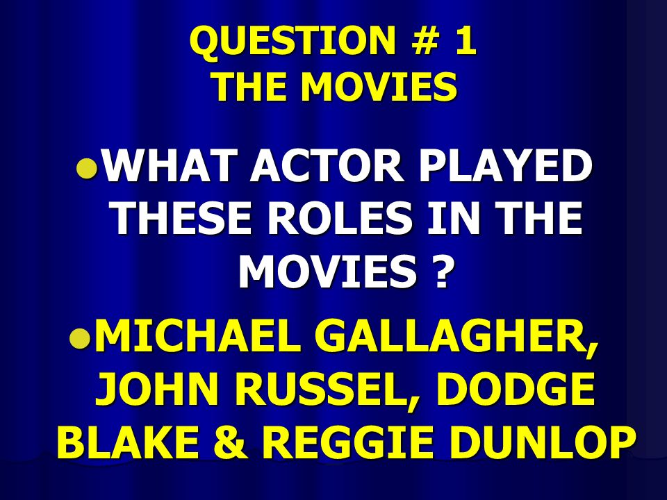 ANSWER # 12 JEOPARDY JEOPARDY THE PRICE IS RIGHT THE PRICE IS RIGHT WHO WANTS TO BE A MILLIONAIRE WHO WANTS TO BE A MILLIONAIRE WIN BEN STEINS MONEY WIN BEN STEINS MONEY PASSWORD PASSWORD PASSWORD PLUS PASSWORD PLUS PYRAMID PYRAMID HOLLYWOOD SQUARES HOLLYWOOD SQUARES