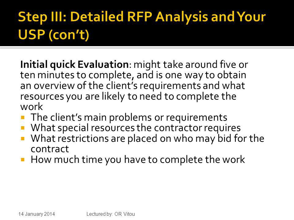 Detailed Analysis: Key questions What is the customers real versus stated problems.