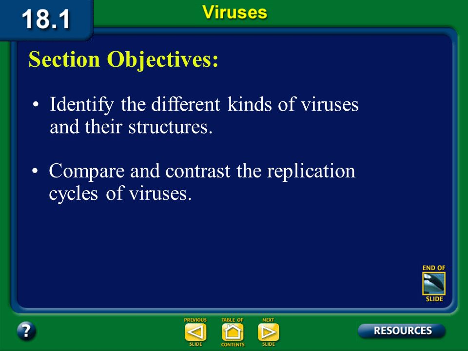 Section 18.1 Summary – pages 475-483 Release of viruses In exocytosis, a newly produced virus approaches the inner surface of the host cells plasma membrane.