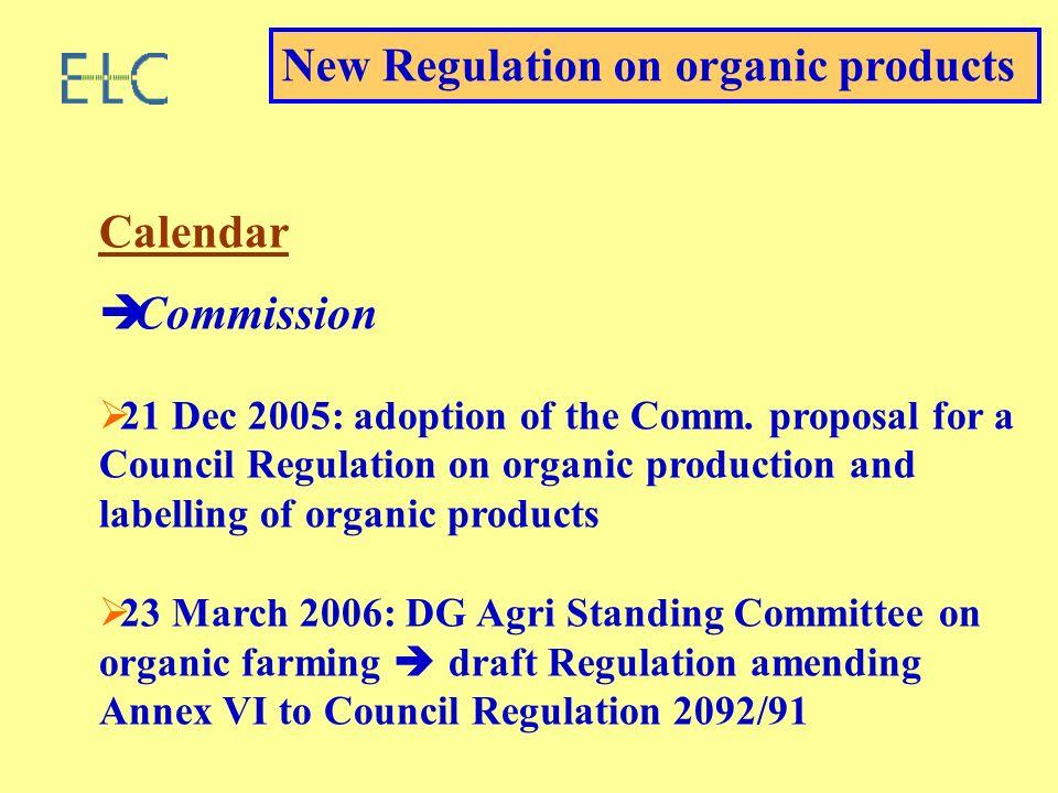 Calendar Commission 21 Dec 2005: adoption of the Comm.