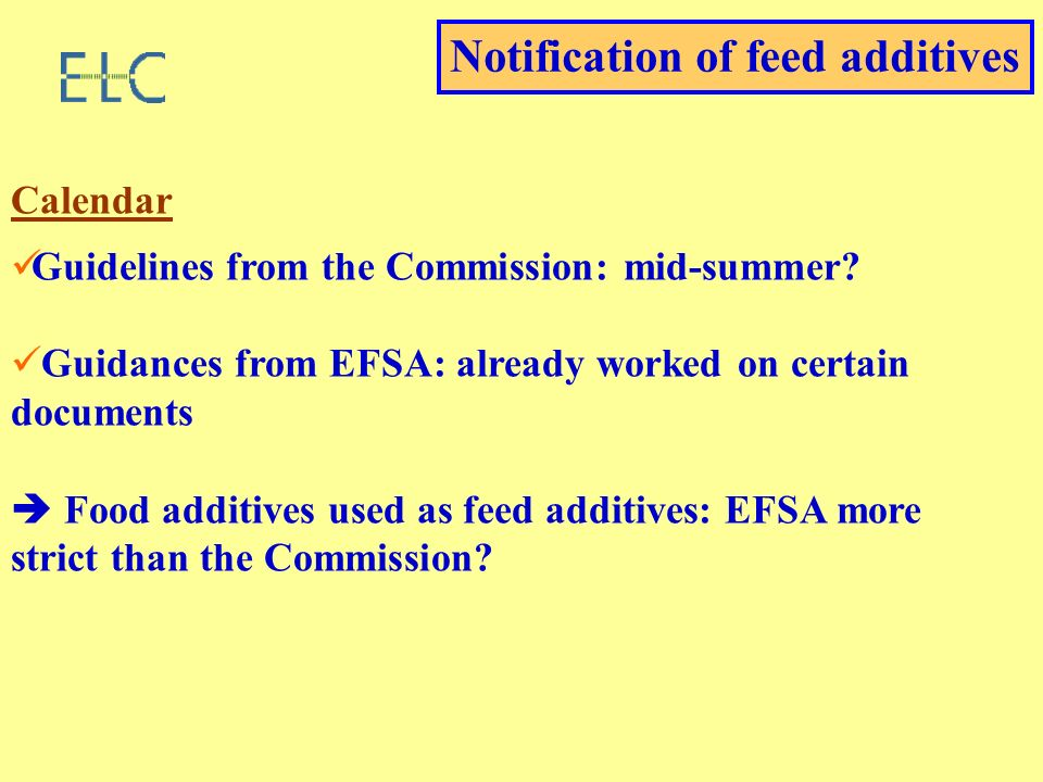 Calendar Guidelines from the Commission: mid-summer.