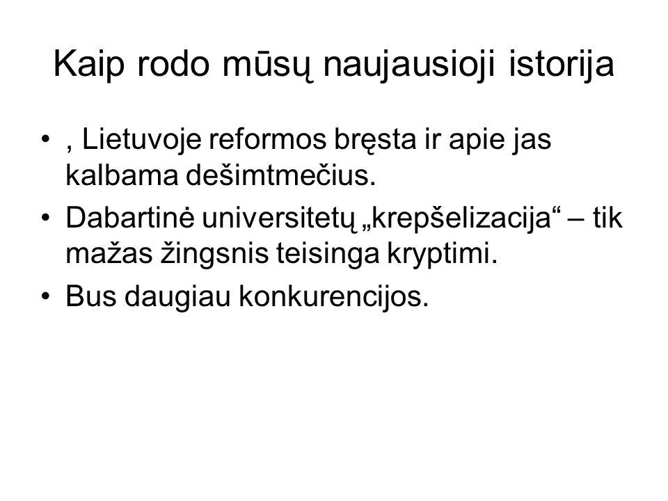 Kaip rodo mūsų naujausioji istorija, Lietuvoje reformos bręsta ir apie jas kalbama dešimtmečius.