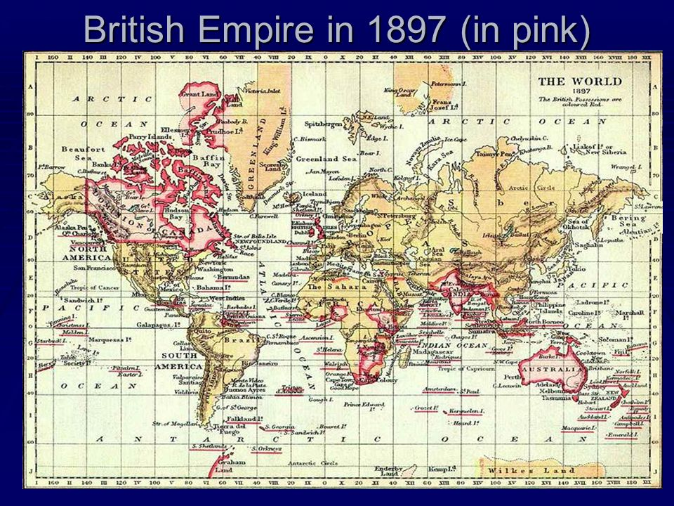 British Empire in 1897 (in pink)