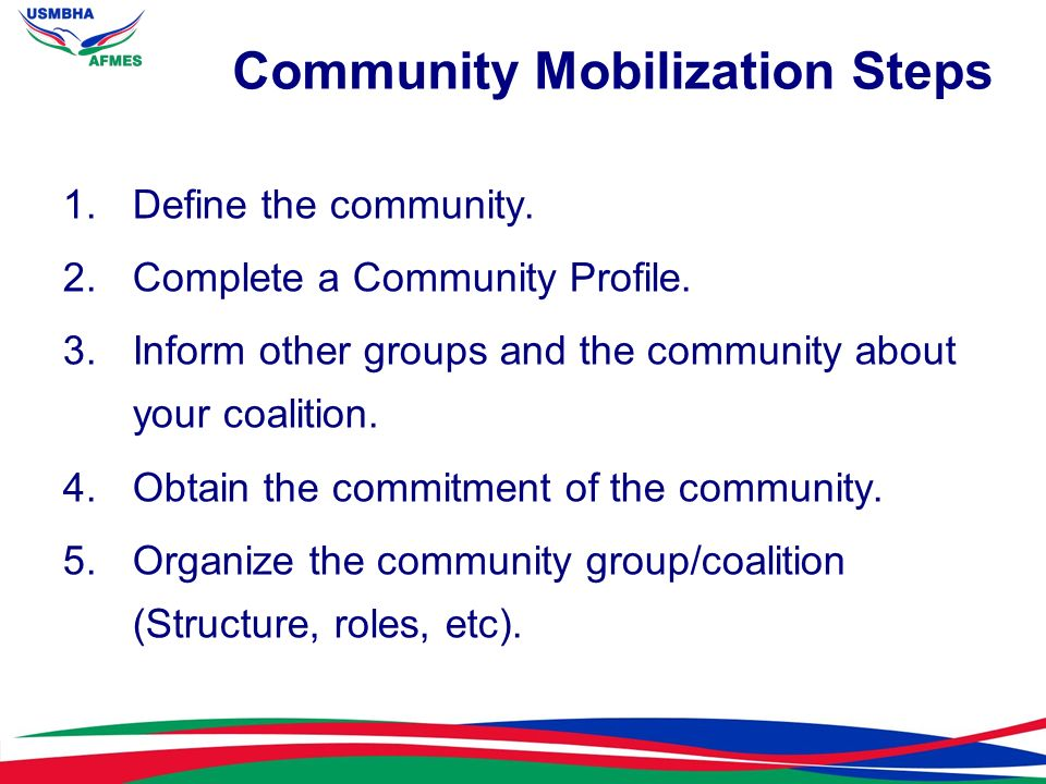 6.Organize an advisory committee.