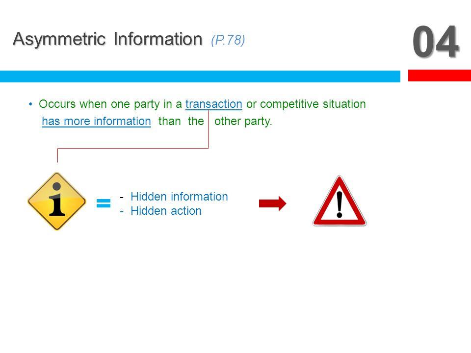 05 Asymmetric Information Asymmetric Information (P.