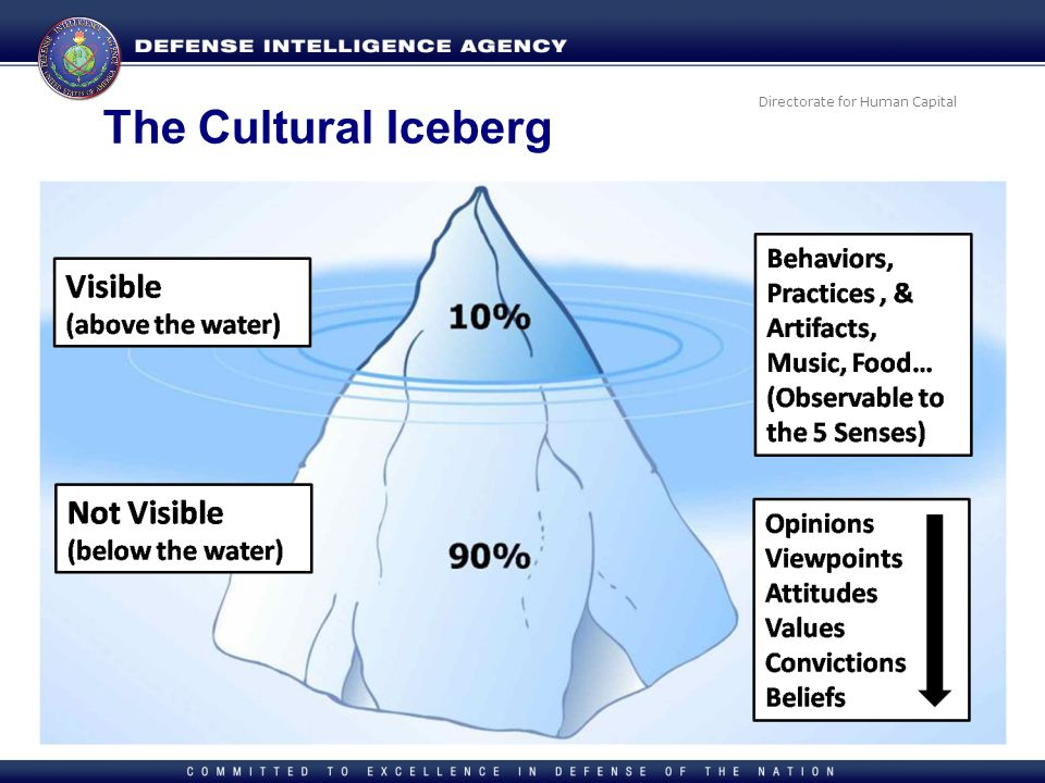Directorate for Human Capital The Cultural Iceberg
